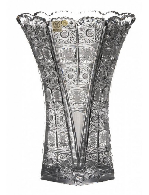 Krištáľová váza 500PK, farba číry krištáľ, výška 275 mm