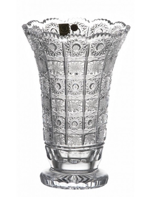 Krištáľová váza 500PK II, farba číry krištáľ, výška 205 mm