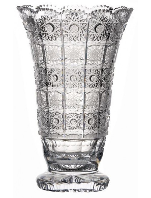 Krištáľová váza 500PK, farba číry krištáľ, výška 305 mm