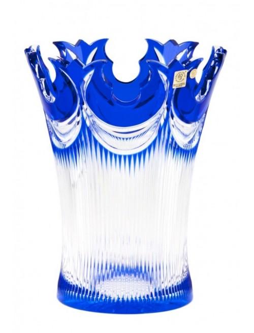 Krištáľová váza Diadem, farba modrá, výška 255 mm