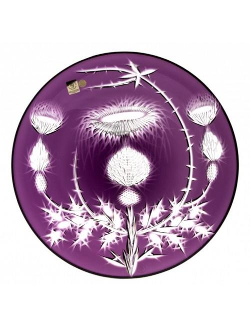 Krištáľový tanier Thistle, farba fialová, priemer 300 mm