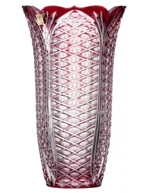 Krištáľová váza Ankara, farba rubínová, výška 310 mm