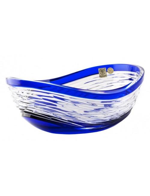 Krištáľová misa Poem, farba modrá, priemer 280 mm