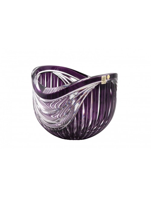Krištáľová misa Harp, farba fialová, priemer 200 mm