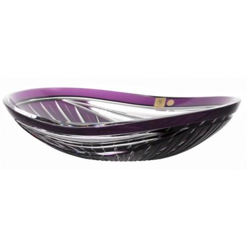 Krištáľová misa Harfa, farba fialová, priemer 310 mm