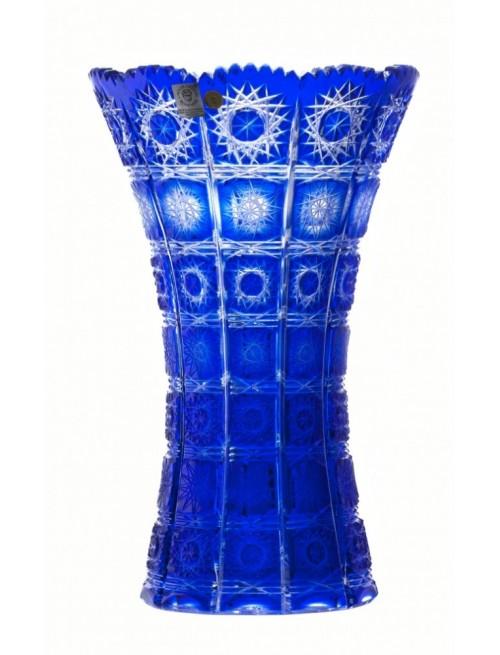 Krištáľová váza Paula II, farba modrá, výška 205 mm