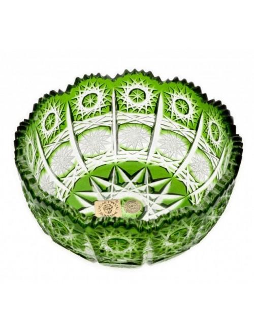 Krištáľová miska Paula, farba zelená, priemer 116 mm