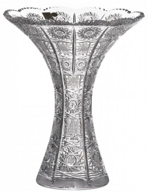Krištáľová váza 500PK, farba číry krištáľ, výška 250 mm