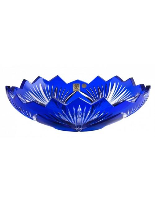 Krištáľová misa Jonathan, farba modrá, priemer 280 mm