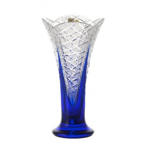 Krištáľová váza Flowerbud, farba modrá, výška 255 mm
