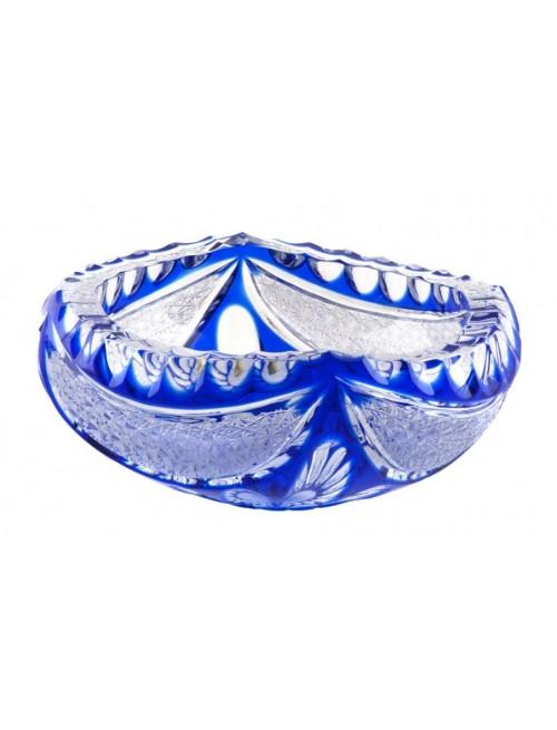 Krištáľový popolník Ingrid, farba modrá, priemer 155 mm