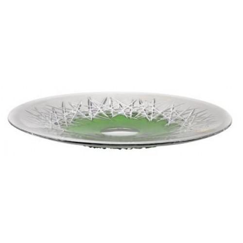 Krištáľový tanier Hoarfrost, farba zelená, priemer 300 mm