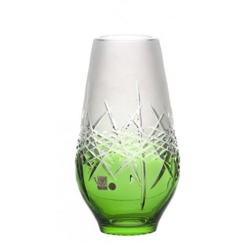 Krištáľová váza Hoarfrost, farba zelená, výška 255 mm