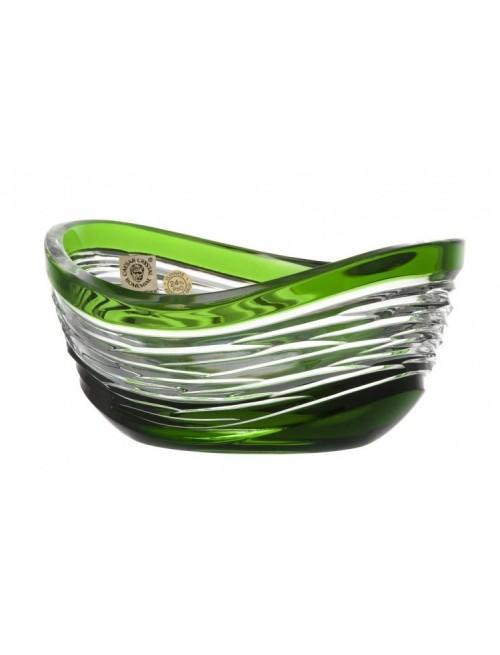 Krištáľová miska Poem, farba zelená, priemer 120 mm