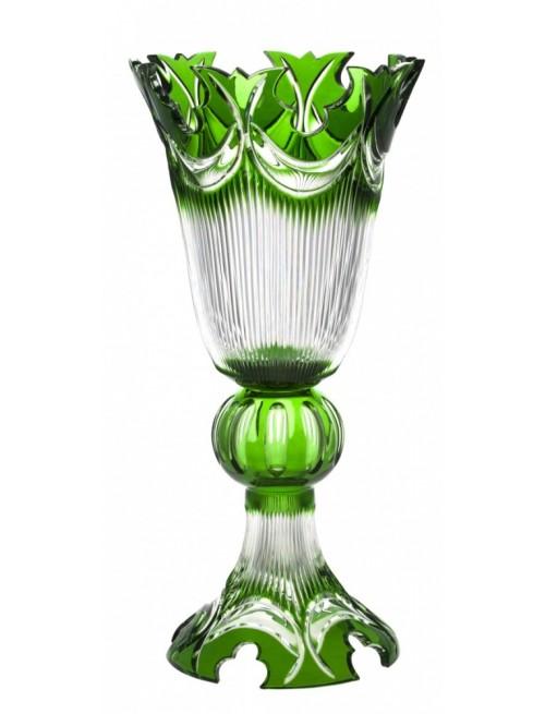 Krištáľová váza Diadem, farba zelená, výška 505 mm