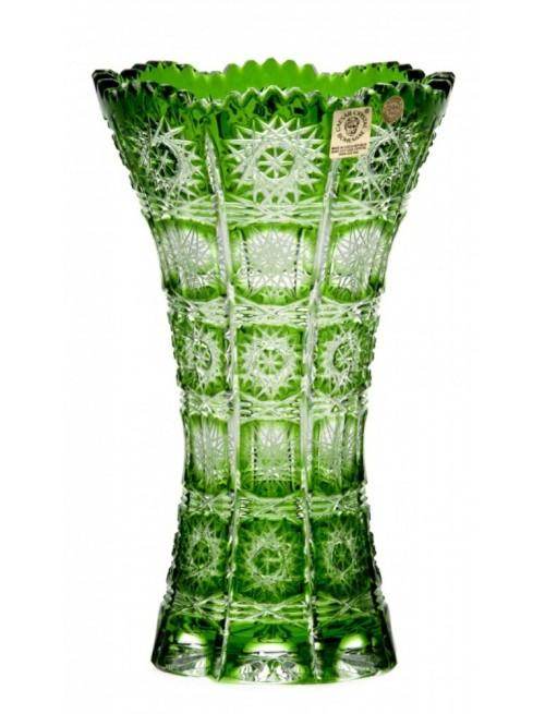 Krištáľová váza Paula III, farba zelená, výška 205 mm