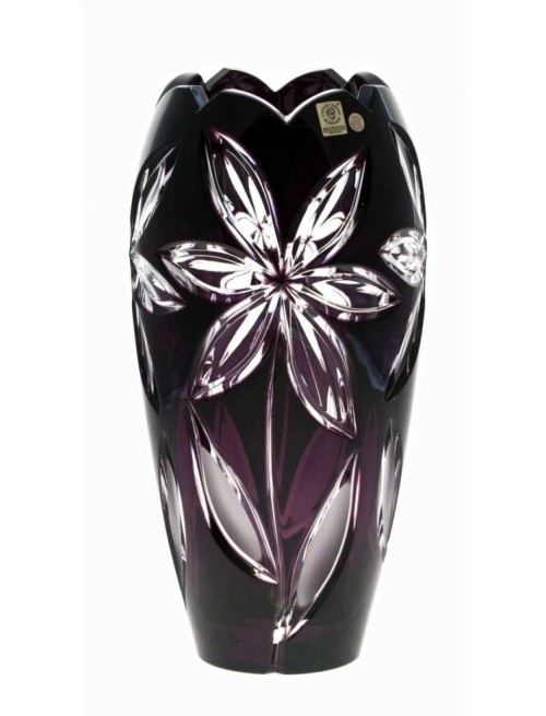 Krištáľová váza Linda I, farba fialová, výška 230 mm
