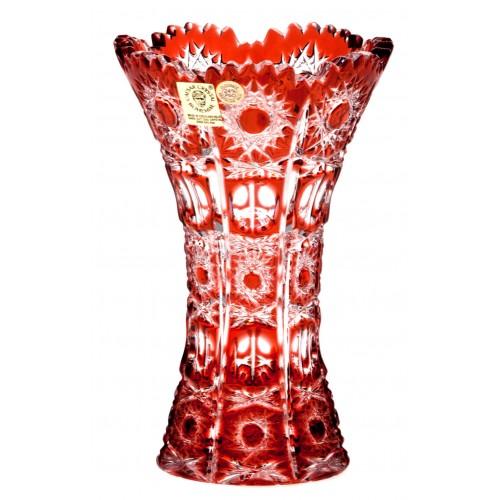 Krištáľová váza Petra, farba rubínová, výška 155 mm