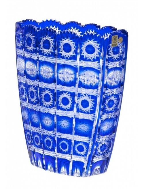 Krištáľová váza Paula, farba modrá, výška 230 mm
