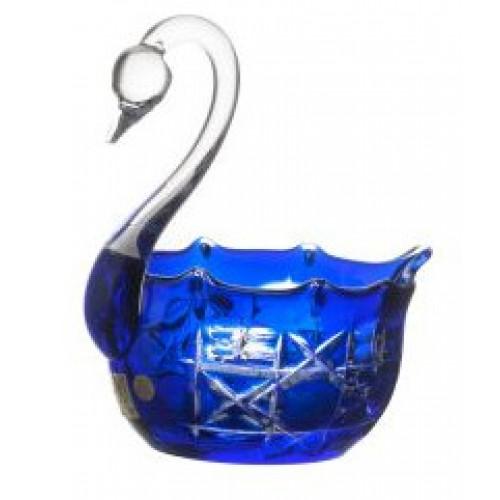 Krištáľová labuť Octagon, farba modrá, priemer 116 mm