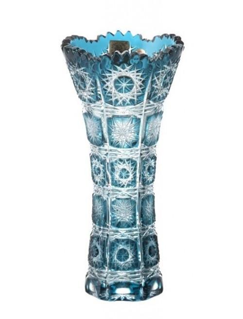Krištáľová váza Paula I, farba azúrová, výška 180 mm