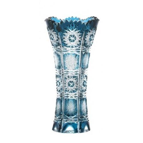 Krištáľová váza Paula, farba azúrová, výška 150 mm