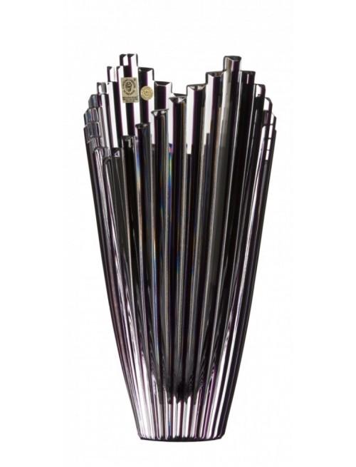 Krištáľová váza Mikado, farba fialová, výška 270 mm