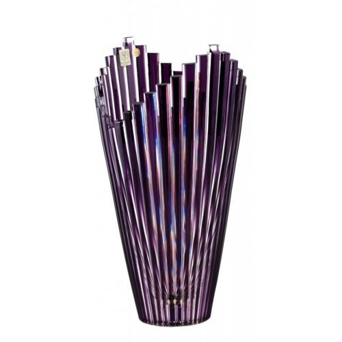 Krištáľová váza Mikado, farba fialová, výška 310 mm