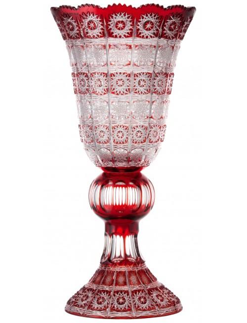 Krištáľová váza Paula, farba rubínová, výška 505 mm