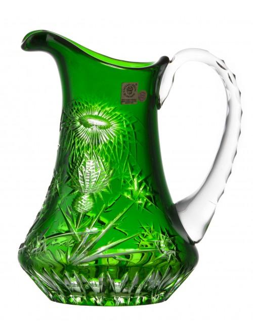 Krištáľový džbán Thistle, farba zelená, objem 950 ml