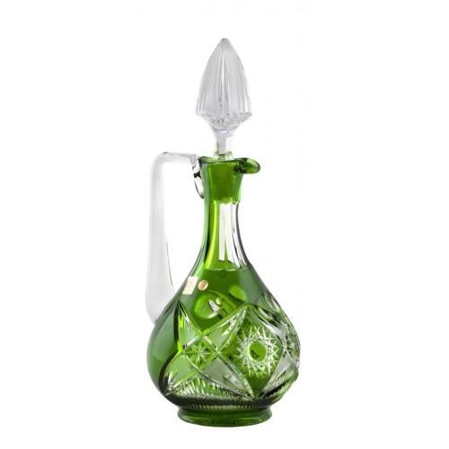 Krištáľová karafa Nordik, farba zelená, objem 950 ml