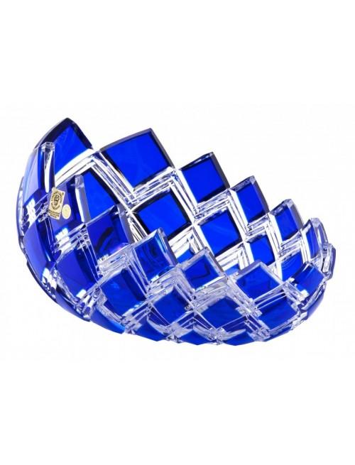 Krištáľová misa Harlequin, farba modrá, priemer 255 mm