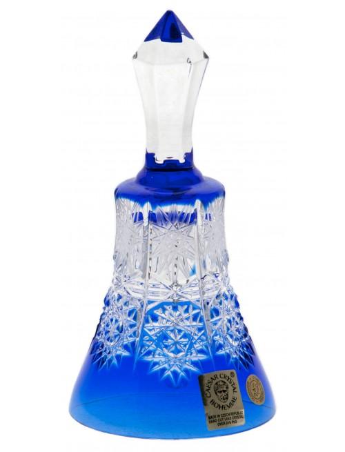 Krištáľový zvonček Paula, farba modrá, výška 126 mm