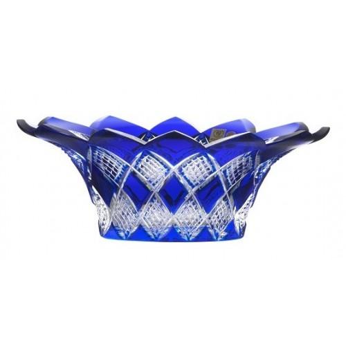 Krištáľová misa Colombine, farba modrá, priemer 300 mm