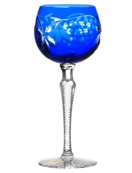 Krištáľový pohár na víno Grapes, farba modrá, objem 170 ml