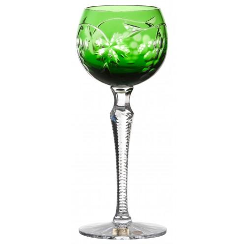 Krištáľový pohár na víno Grapes, farba zelená, objem 170 ml
