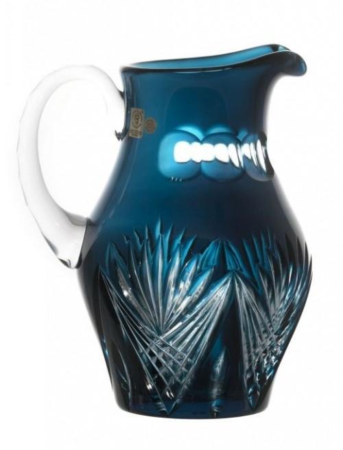Krištáľový džbán Janette, farba azúrová, objem 1500 ml