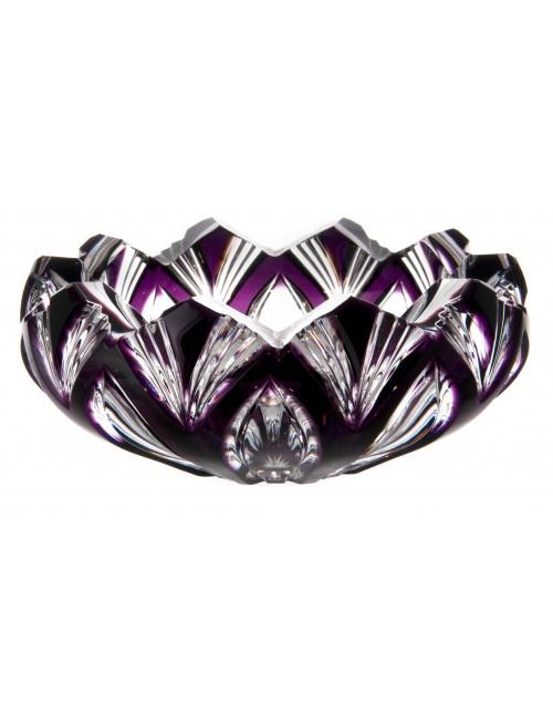 Krištáľový popolník Lotos, farba fialová, priemer 150 mm