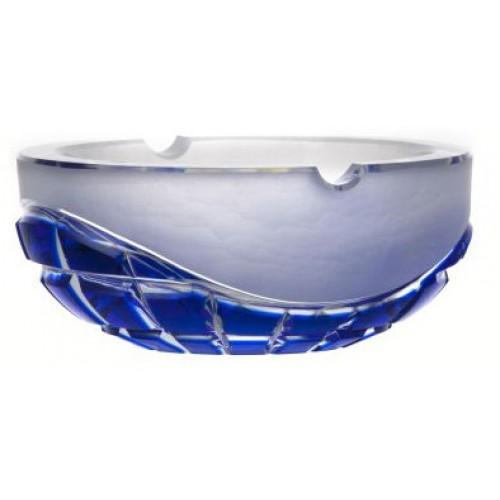 Krištáľový popolník Neron, farba modrá, priemer 160 mm