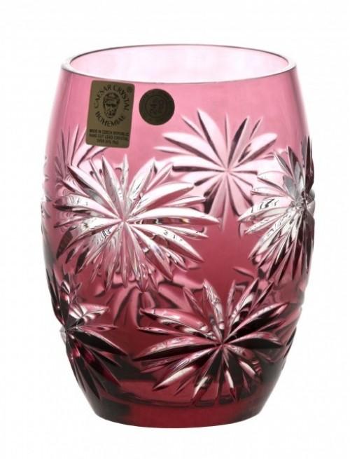 Krištáľový pohár Palm, farba rubín, objem 220 ml