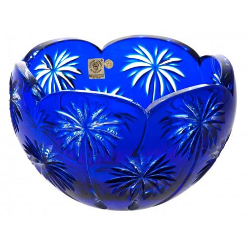Krištáľová misa Palma, farba modrá, priemer 200 mm