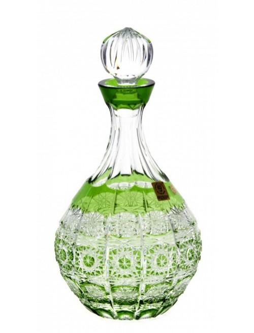 Krištáľová fľaša Paula, farba zelená, objem 500 ml
