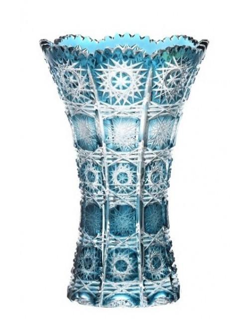 Krištáľová váza Paula II, farba azúrová, výška 180 mm