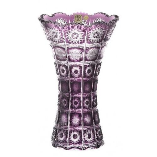 Krištáľová váza Paula, farba fialová, výška 255 mm