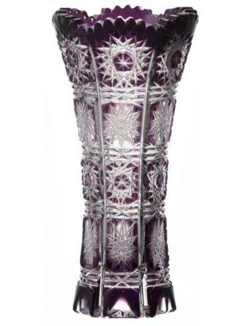 Krištáľová váza Paula, farba fialová, výška 150 mm