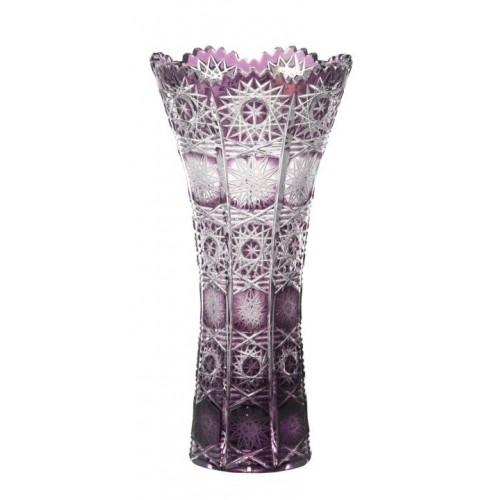 Krištáľová váza Paula, farba fialová, výška 200 mm
