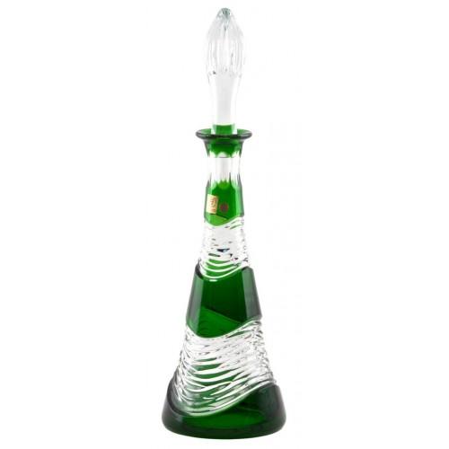 Krištáľová fľaša Poem farba zelená, objem 750 ml