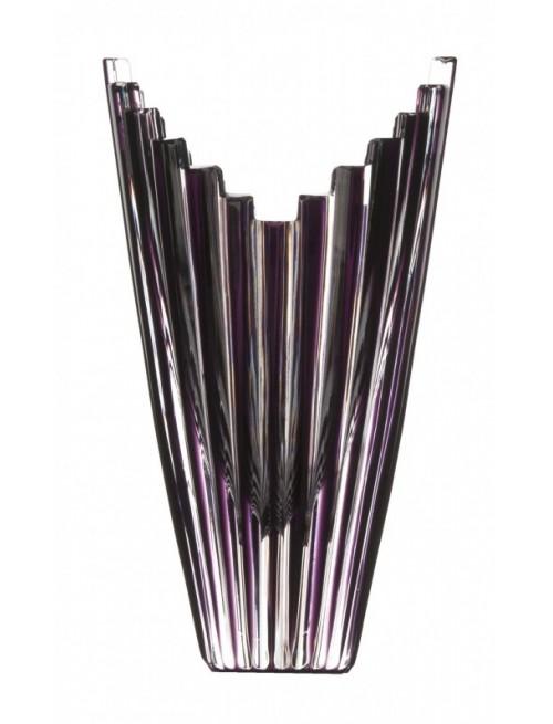 Krištáľová váza Mikado, farba fialová, výška 155 mm