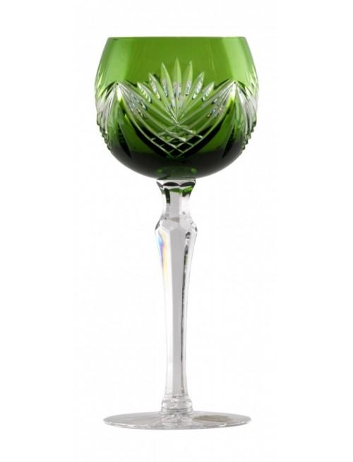 Krištáľový pohár na víno Janette, farba zelená, objem 190 ml