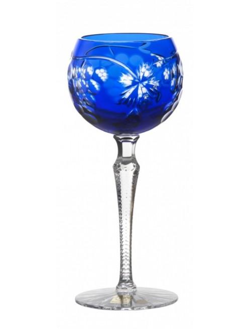 Krištáľový pohár na víno Grapes, farba modrá, objem 190 ml